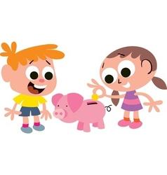 Childrens savings vector