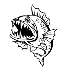 Angry fish vector