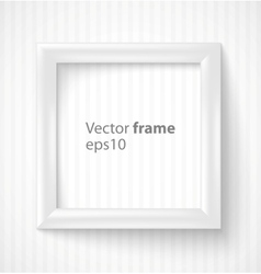White square 3d photo frame with shadow vector