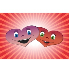 Couple of loving hearts vector