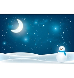 Christmas night landscape vector