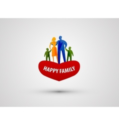 Family logo design template people or love icon vector