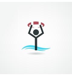 Swim icon vector