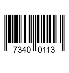 Bar code with fake numbers vector