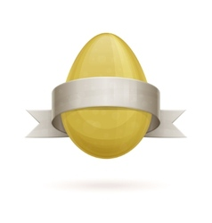 Egg with ribbon vector