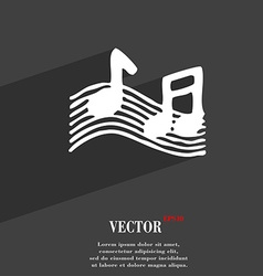 Musical note music ringtone icon symbol flat vector