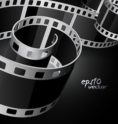 Realistic reel film vector