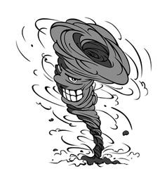 Smiling hurricane cartoon vector