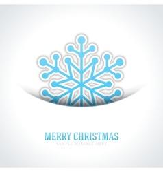 Merry christmas card and snowflake vector