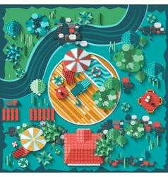 Landscape design composition vector