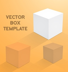 Realistic 3d cube cargo shipping device box icon vector