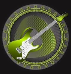 Guitar emblem vector