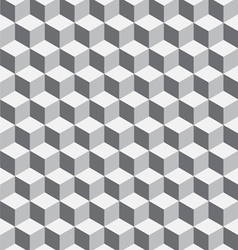 Seamless geometrical cube pattern vector