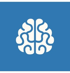 Brain icon on blue background vector