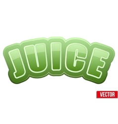 Label for spinach juice bright premium design vector