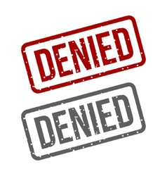 Denied red stamp over a white background vector