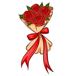 A simple drawing of a bridal boquet vector