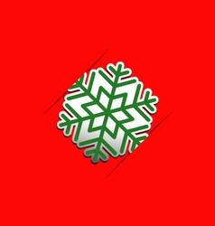 Christmas snowflake applique background vector