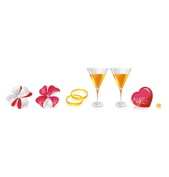 Wedding beverage deco vector