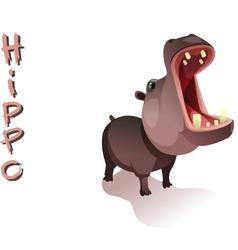 Animal hippo vector