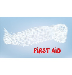 First aid bacgkround with bandage vector