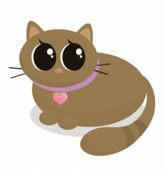 Cartoon kitty vector