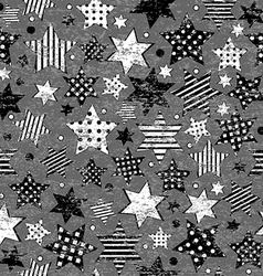 Grunge vintage stars seamless background vector