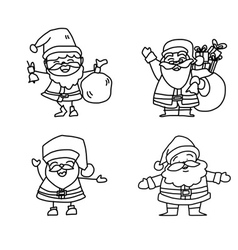 Cartoon character christmas santa claus vector
