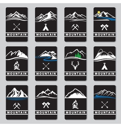 Mountain cards set vector
