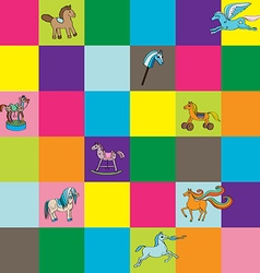 Toy horse kids chess vector