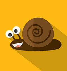 Modern flat design snail icon vector