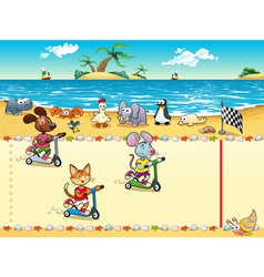 Competition in beach vector