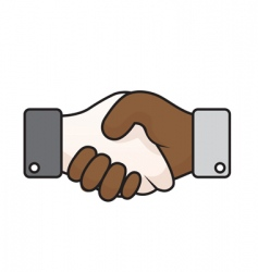Race relations handshake vector