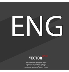 English icon symbol flat modern web design with vector