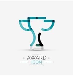 Award icon logo vector