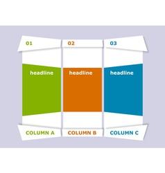 Creative columns vector