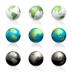Globes set vector