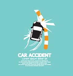Car accident with footpath vector