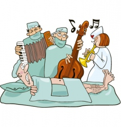 Crazy surgeons operation band vector