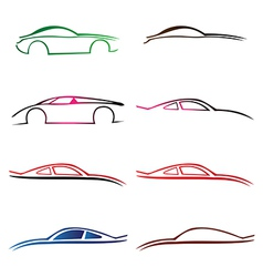 Cars collection vector