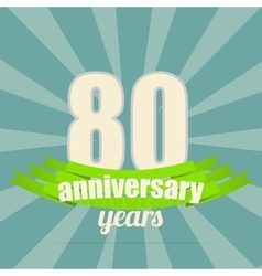 Anniversary emblem vector