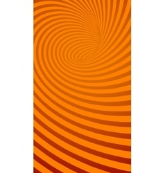 Spiral orange striped abstract tunnel background vector