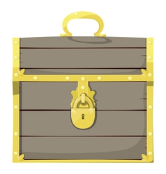 Closed pirate chest vector