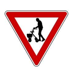 Give way to elderly people vector