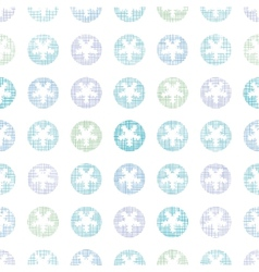 Abstract textile snowflakes dots seamless pattern vector
