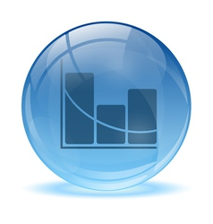 3d glass sphere statistic icon vector