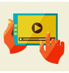 Creative concept with video player vector