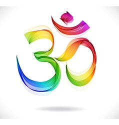 Abstract colorful om sign over white vector
