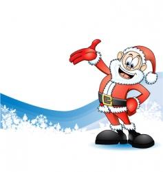 Santa claus presenting vector