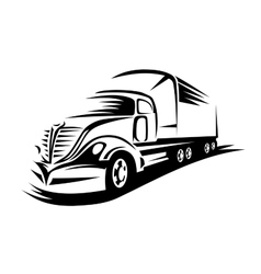 Big delivery truck vector